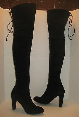 326f26001d9 STUART WEITZMAN HIGHLAND Over The Knee Boot Black Suede Size 7 ...
