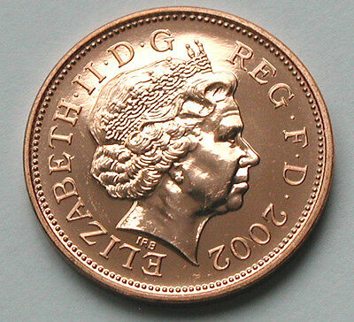 2002 UK (British) Elizabeth II Coin - 2 Pence (2p) - UNC (from mint set)