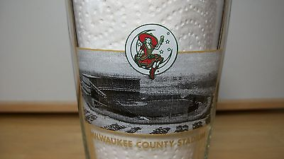 Miller High Life Milwaukee County Stadium Opening Day & Closing Day Beer Glass