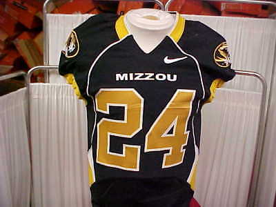 1fc36f931 Missouri Tigers Game Worn Black Nike Player  24 Football Jersey Size- 38