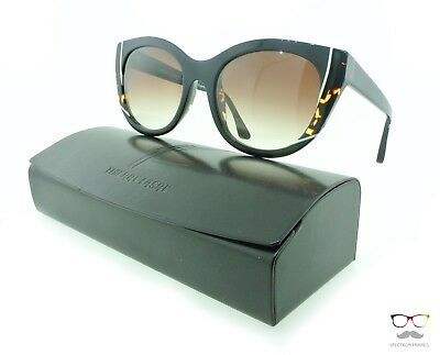 Thierry Lasry Sunglasses Nevermindy 101 Black Cat-eye Frames / Brown Gradient
