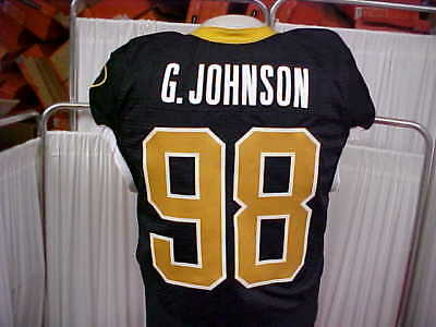 000bbc608 Missouri Tigers Game Worn  98 G. Johnson Football Jersey Nike Black Gold  Size