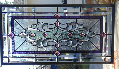 Stained Glass window hanging 30 1/2 X 17