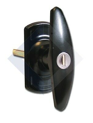 Low & Fletcher 1616 - Square Garage T Handle with square spindle - Black