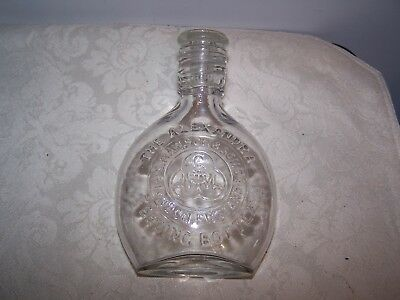 Antique - The Alexandra Glass Baby Feeding Bottle With Screw Cap England - Mint