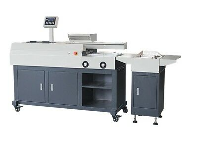 Semi automatic A3 perfect binder, mill cutter, side glue - Ships from USA