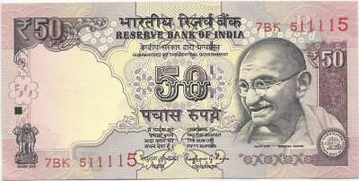 Fancy No. Of 50 Rupees Notes Of India   ( 2 Notes ) 880000 And 511115