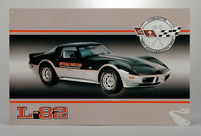 Tin Metal Wall Sign (1978 Corvette L-82 Pace Car) GM Licensed