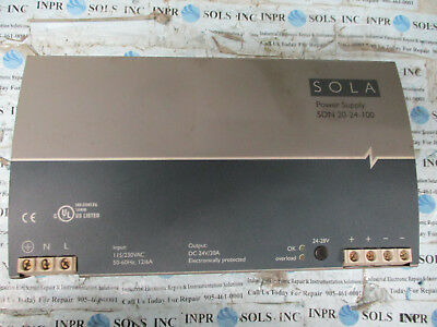 Sola SDN20-24-100 DC Power Supply 24VDC 20Amp Input:115/230VAC 12/6A *Tested*