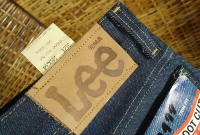 NOS Vtg Lee Rider Student Trim Fit Boot Cut 28x34 Blue Jeans Deadstock USA Made