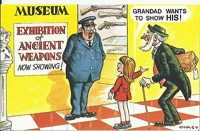 Vintage 1970's Bamforth COMIC Postcard (as new condition) Ancient weapons #485