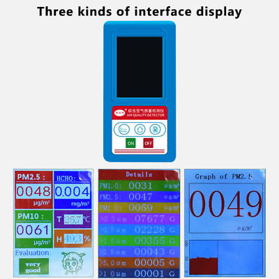 PM2.5 PM10 PM1.0 Formaldehyde Detector TFT Color LCD Air Quality Monitoring Mete