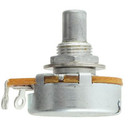 "Alpha 3/8"" Bushing Potentiometer, 250KA Log/Audio 1/4"" solid shaft solder tabs"