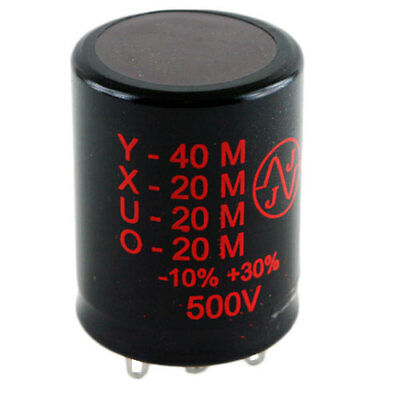 NEW - JJ 40/20/20/20uF @ 500V multisection electrolytic can tube amp capacitor
