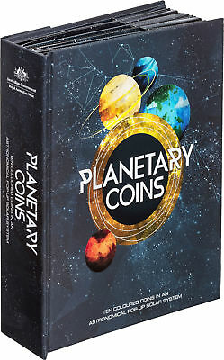 2017 -  Planetary 10 Coin Collection in folder