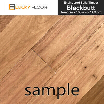 Sample: 14mm Blackbutt  Engineered Flooring Hardwood Timber Flooring