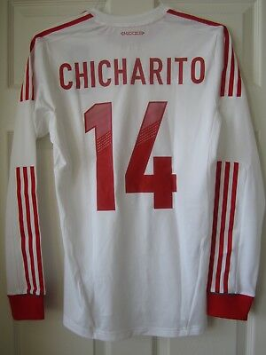 Adidas 11-12 Mexico Player Issue Formotion Soccer Jersey Chicharito  Hernandez 538f4028d