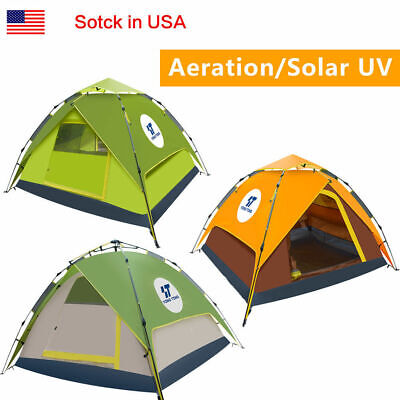 General Use Waterproof 4-5 People Outdoor Pop up C&ing Tent Trap With Rainfly  sc 1 st  PicClick & GENERAL USE WATERPROOF 4-5 People Outdoor Pop up Camping Tent Trap ...