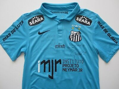 4da32bc887d Nike 2012-13 Santos Brasil Neymar Player Issue Match Worn Signed Soccer  Jersey S