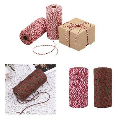 2ply Natural Cotton Twine Rope Bakers Durable String DIY Craft Gifts 1 Roll 100M