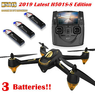 Hubsan H501S X4 Drone FPV Quadcopter 1080P CAM Follow Me Brushless GPS,2 Battery