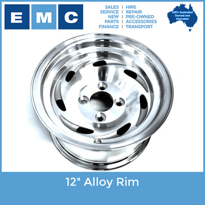 "Rim, 12"" Alloy for Golf Cart Vehicles"