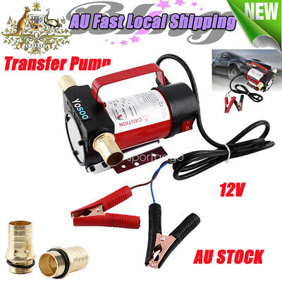 12V Portable Electric Fuel Oil Diesel Transfer Pumps Car Vehicle Auto Station