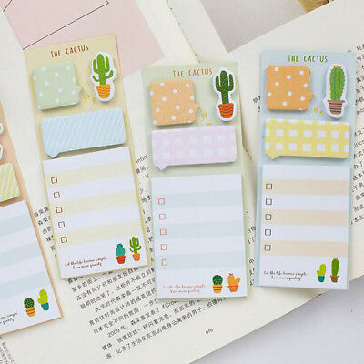 1Pc  Lovely Cactus Sticky Note Pads Cute Memo Pad Office Supplies
