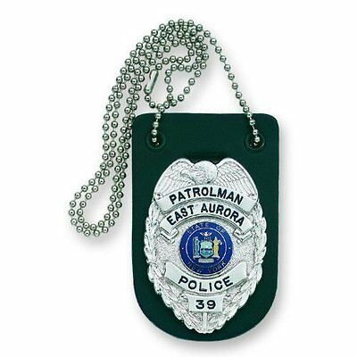 Strong Leather Badge Holder with Neck Chain - Universal
