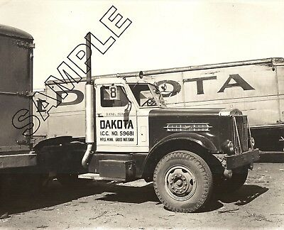 1940s STERLING HC Diesel Tractor DAKOTA TRANSFER, Minneapolis, MN 8x10 B&W Photo