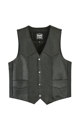 Kids Traditional Style Plain Side Cowhide Leather Vest DS1725