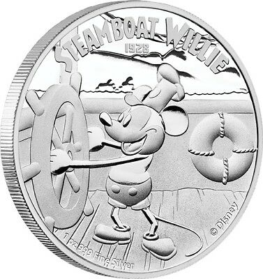 2014 Disney STEAMBOAT WILLIE Mickey Mouse 1oz Silver Proof Coin Niue