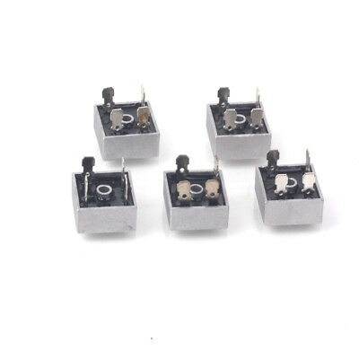 25A 1000V Single-phase Bridge Rectifiers Silver (5 PCS)