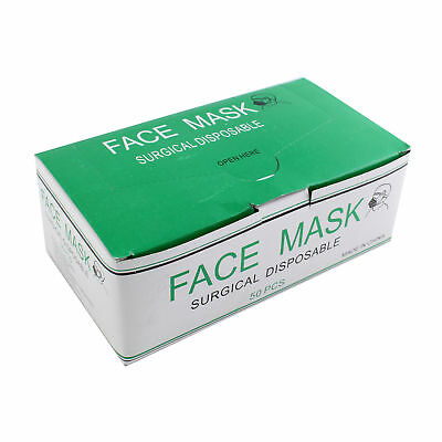 50pcs Disposable Mouth Mask Surgical Face Masks Dust Bacterial Filter