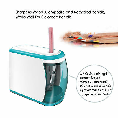 Battery Operated Pencil Sharpener Automatic Cutter Electric Office School Kit