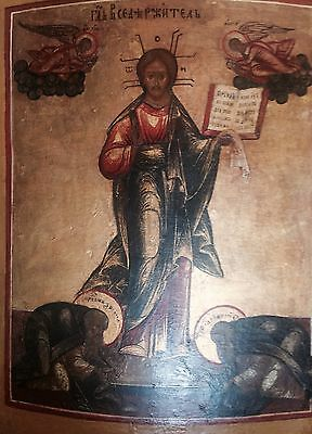 Superb antique Russian Icon of Christ Pantocrator Smolensk. XVII century