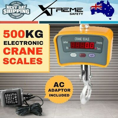 500KG 5 Digital LED Display Electronic Crane Scales Industrial Hanging Weight