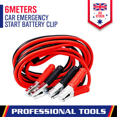 3000Amp Heavy Duty Jumper Leads 6M Long Jump Booster Cables 4WD Trcuk Battery