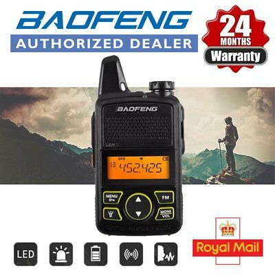Baofeng BF-T1 Mini Walkie Talkie UHF FM Two Way Radio With Earpiece Cable UK