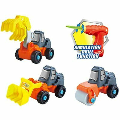 Construction Tools 3-in-1 Take-A-Part Toy Truck For Kids With 27 Apart Pieces