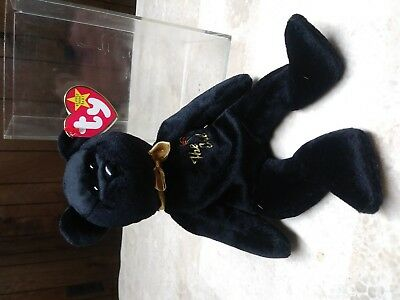 "Rare ""the End"" Y2K Beanie Baby Bear Gold Mint 1999 Retired"