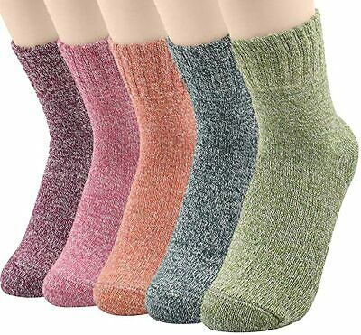 5 Pairs Men's Wool Cashmere Design Thick Warm Casual Soft Winter Boot Socks XMAS