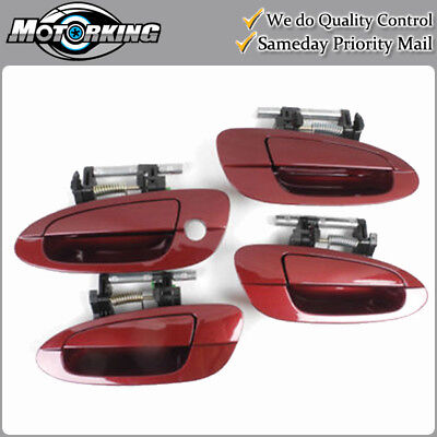 For 2002-2006 NISSAN ALTIMA Door Handle Outside Front Pair AX3 Red DS226