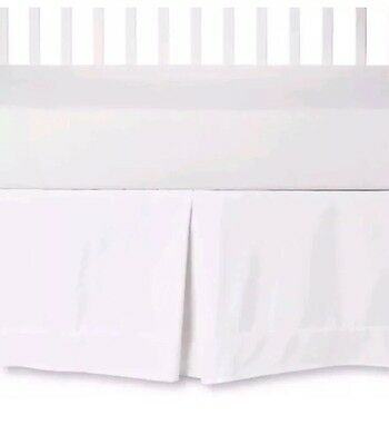 Circo Solid White Crib Skirt Baby Bedskirt Nursery Decor NWT