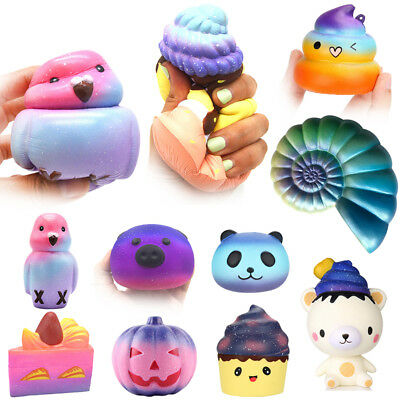 Galaxy Jumbo Squishy Super Soft Slow Rising Squeeze Toy Pressure Relief Kid Toys