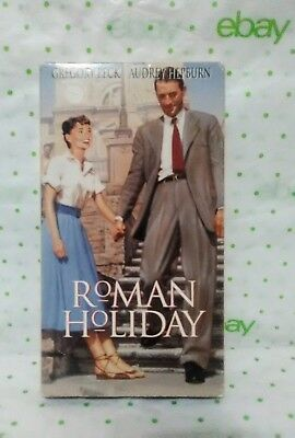 Roman Holiday Gregory Peck Audrey Hepburn Not Rated Black & white VHS tape movie