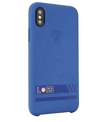 Lamborghini Huracan-D13 Liquid Silicon Rubber Back Cover for iPhone X (Blueberry
