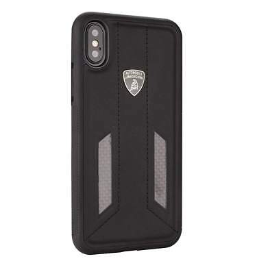 Lamborghini Huracan-D6 Leather Back Cover Case for iPhone X (Black)