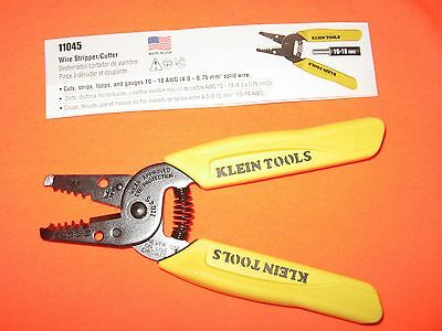 Klein 11045 WIRE STRIPPER / CUTTER 10-18 Gauge wire awg NEW no package Made USA