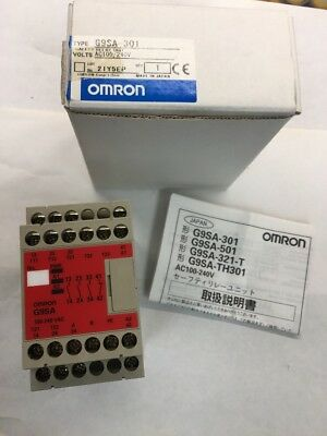 Omron G9SA-301 100-240V AC SAFETY Monitoring Relay Unit G9SA301 NOS